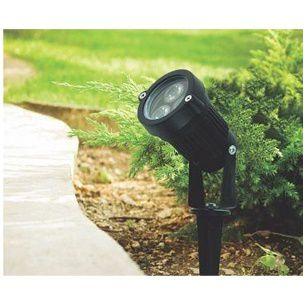 Luminária Espeto Para Jardim LED TEL 03 3W Verde - TASCHIBRA