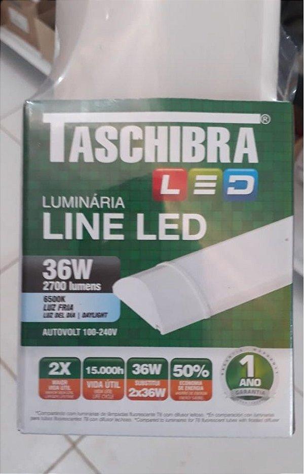 Luminária Line LED 120 CM 36W 6500K Bivolt - TASCHIBRA