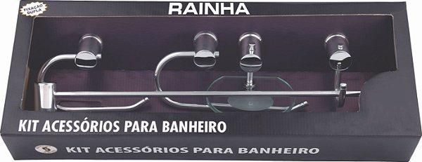 Kit Acessórios para Banheiro Semi Luxo (Polido) - RAINHA METAIS