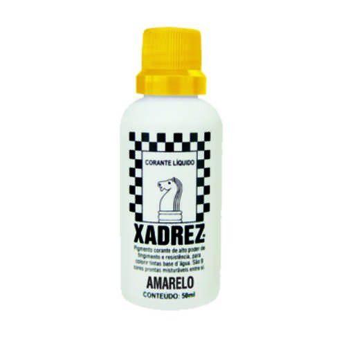 Bisnaga Xadrez 50 ml - Amarelo