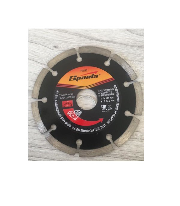 Disco Diamantado Segmentado 115x22,2 MM - SPARTA