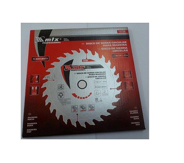 """Disco Serra Circular 185(7.1/4"""") x 22,23 x 24 Dentes - MTX"""