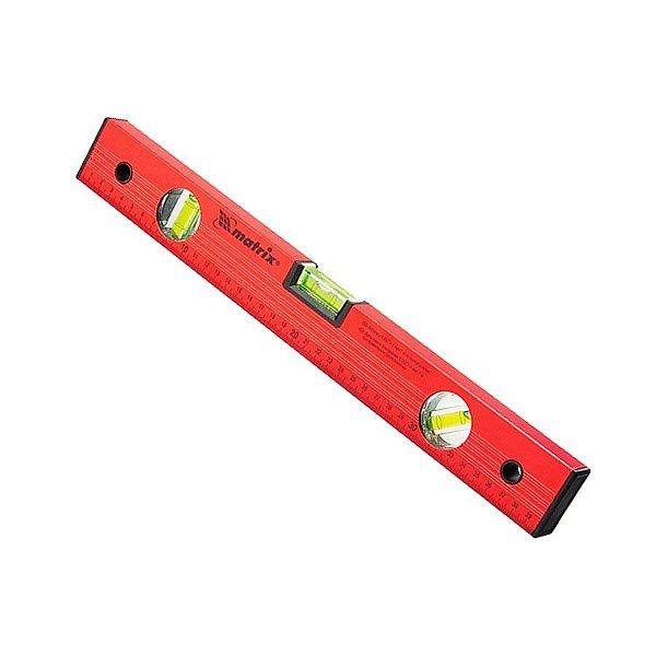 """Nível de Almunínio 10"""" 250 MM com 2 Bolhas Vermelho - MTX"""