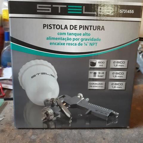 Pistola de Pintura Tanque Alto com Alimentação por Gravidade 600 ML