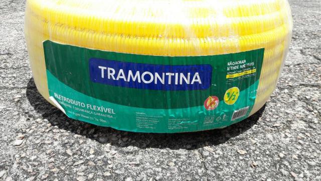 """Eletroduto Flexível 3/4"""" Amarelo (Rolo 50 Metros) - Tramontina"""