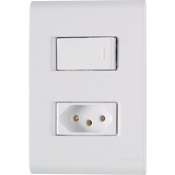 1 Interruptor Simples + 1 Tomadas 2P+T 20A/250V LIZ - TRAMONTINA