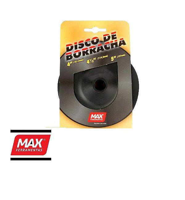 """Disco de Borracha para Lixadeira 4.1/2"""" - MAX"""