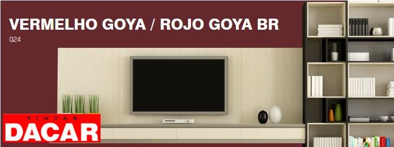 Esmalte Sintético Standard 900 ML Vermelho Goya - DACAR
