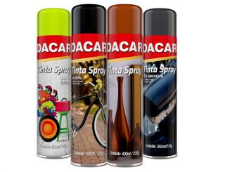 Tinta Spray Uso Geral Cinza Médio Brilhante - DACAR