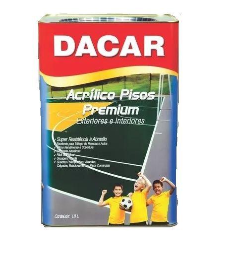 Tinta Para Piso 18 Litros Vermelho Demarcação - DACAR