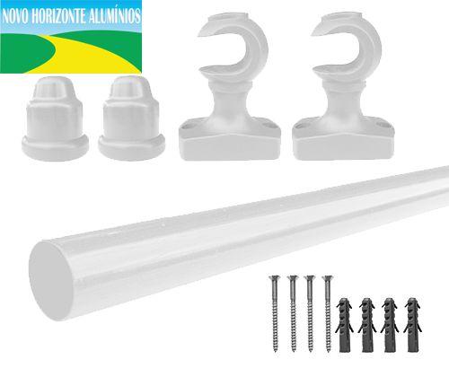 Varão Simples 19 MM 1,50 Metros Branco - NOVO HORIZONTE