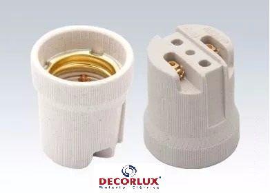 Soquete de Porcelana E27 - DECORLUX
