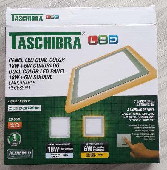 Painel de LED Dual Color 18w + 6w Quadrado - TASCHIBRA