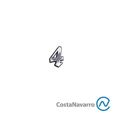 Número Elegance Médio 12 CM Nº 4 Cromado - COSTA NAVARRO