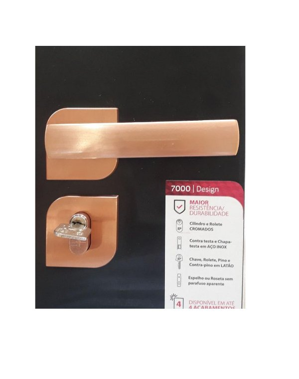 Fechadura Para Banheiro Rose 735B 117RO - 3F