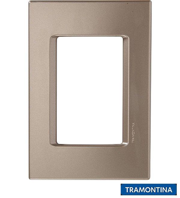 Placa + Suporte 4x2 (3 Postos) Ouro Velho LIZ - TRAMONTINA