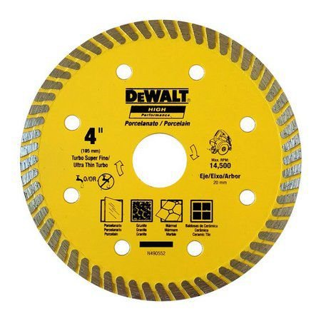 "Disco Diamantado para Porcelanato 4"" x 105MM- DEWALT"