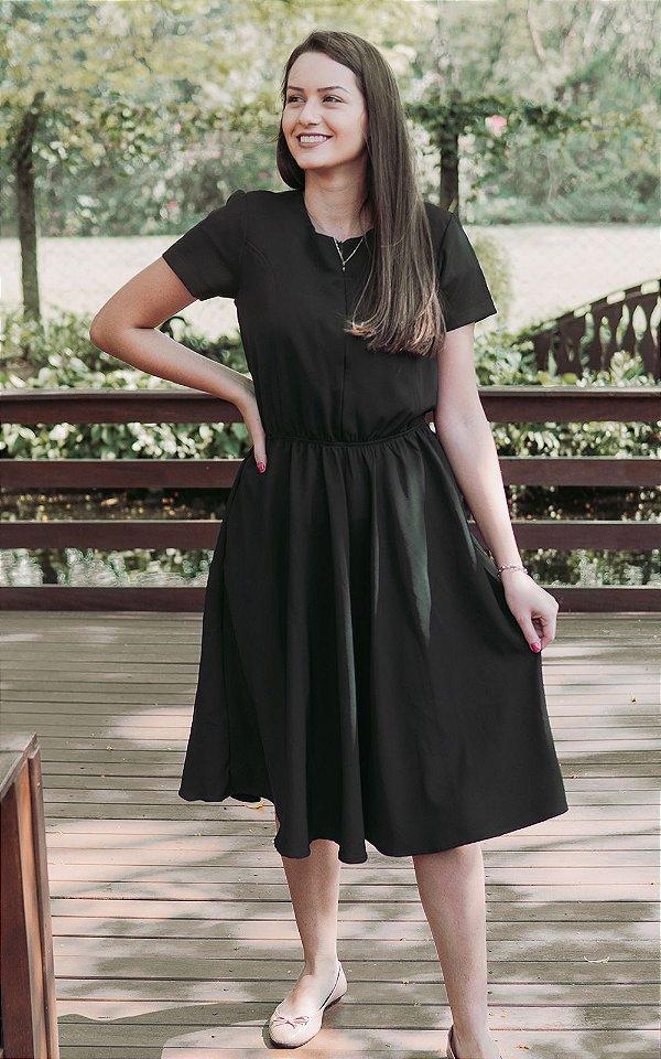 Vestido Preto com zíper de amamentação