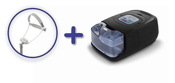 Kit CPAP Auto RESmart GI com Umidificador e máscara nasal Fealite Pillow