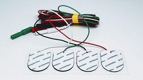 Eletrodo de Superfície Neurosoft NS-SEAg-S com cabo (Pacote com 4 unidades coloridas)