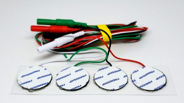 Eletrodo de Superfície Circular Neurosoft NS-SEAg-S-Redondo com cabo (Pacote com 4 unidades)