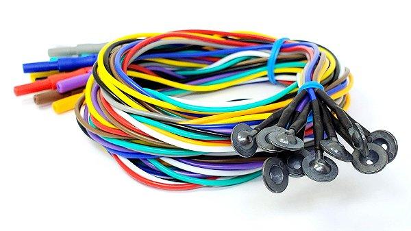 Eletrodo de EEG Neurosoft NS-DECL101500-SC - 1,5m - AgAgCl/Silicone