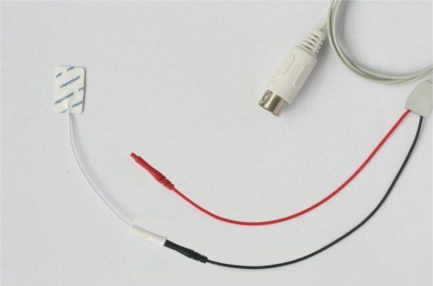 Cabo de 2 vias para Eletrodos Sensoriais Neurosoft NS SEC-5P/2x0.7/1500 - 1,5m