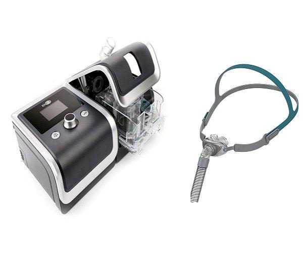 Kit CPAP Básico RESmart Gll, modelo E-20C-H-0, com Umidificador e Máscara Nasal P2 Pillow Interface-Tamanhos P, M e G