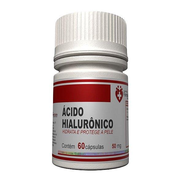 Ácido Hialurônico 50mg 60 cápsulas - Hidratante oral