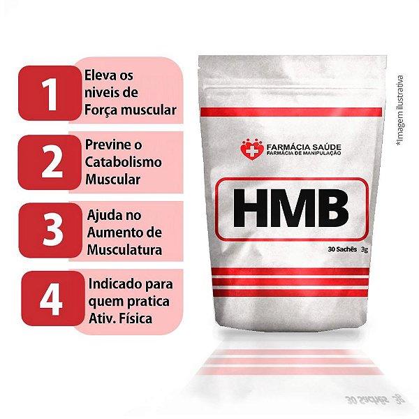 HMB 30 sachês de 3g - Eleva os níveis de força