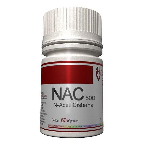 NAC 500mg 60 cápsulas - N-Acetilcisteína