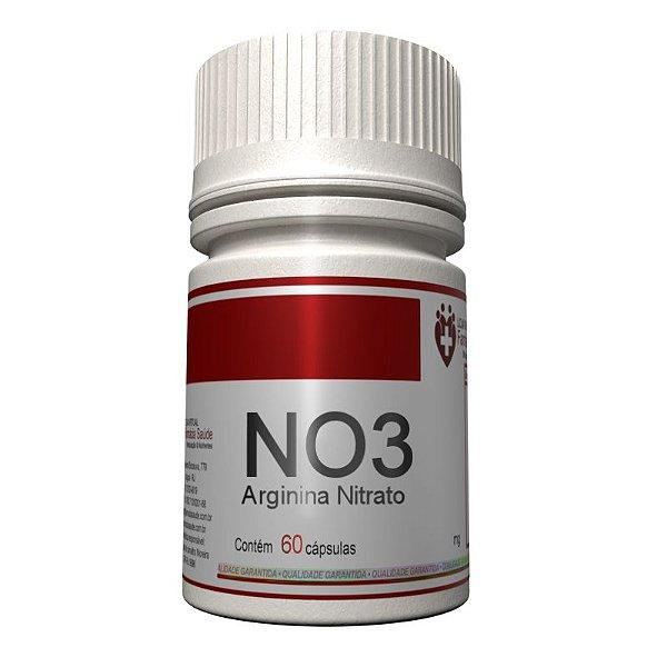 NO3 600mg 60 cápsulas - Arginina Nitrato - Vasodilatador