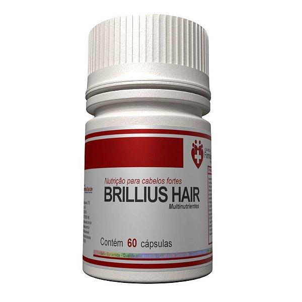 Brilius Hair 60 cápsulas - Nutrição para cabelos fortes
