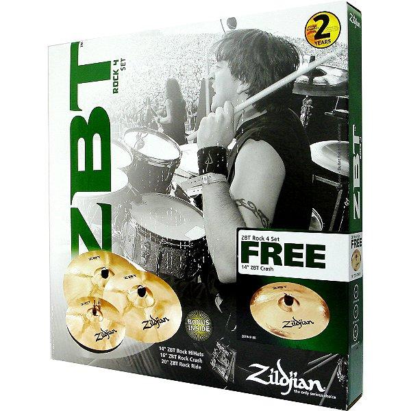 Set Zildjian ZBT 4 Rock 14/16/20 e Brinde 14 (Crash)