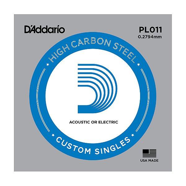 Corda Avulsa Guitarra D'Addario 0,11 Plain Steel