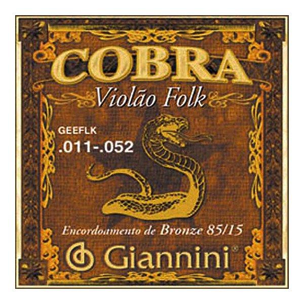 Encordoamento Violão Giannini Geeflk 0.11