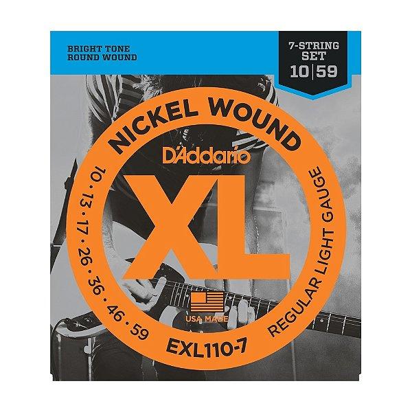 Encordoamento Guitarra 7C D'Addario EXL 110 7