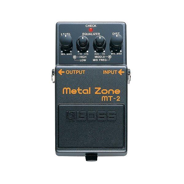 Pedal Guitarra Boss Distortion Metal MT 2