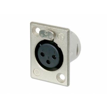 Conector Neutrik Xlr Femea Nc 3 Fp 1