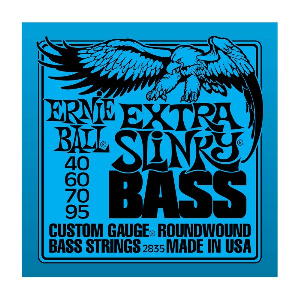 Encordoamento Contrabaixo Ernie Ball Extra Slinky Bass 4 Cordas 0.40 2835