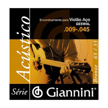 Encordoamento Giannini Violão 0.09 Geswal