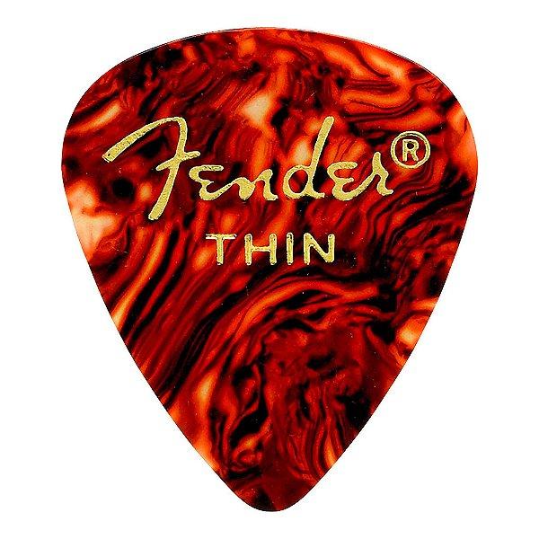 Palheta Fender Shell Thin Tradicional