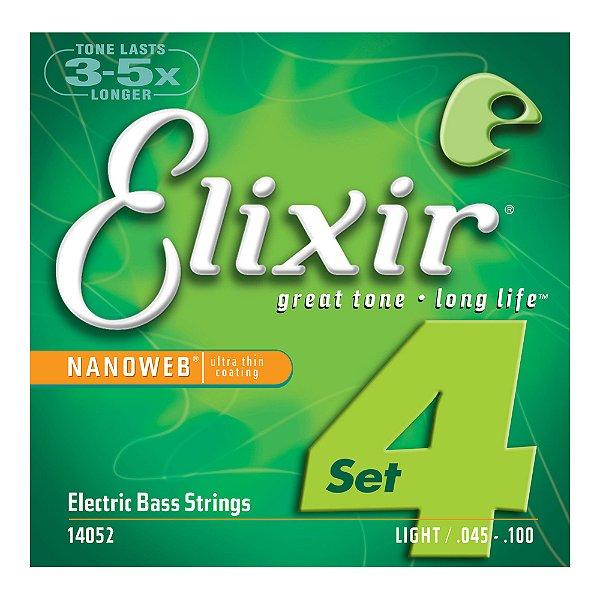 Encordoamento Elixir Nanoweb Contrabaixo 0.45 Light