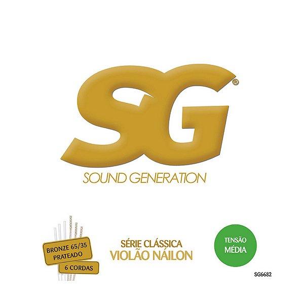 Encordoamento SG Violão Nylon/Bronze Média SG6682