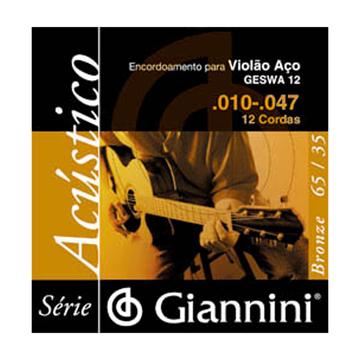 Encordoamento Giannini Violão 12c 0.10 Geswa 12
