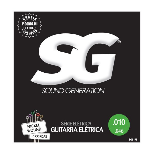 Encordoamento SG Guitarra 0.10 SG5198