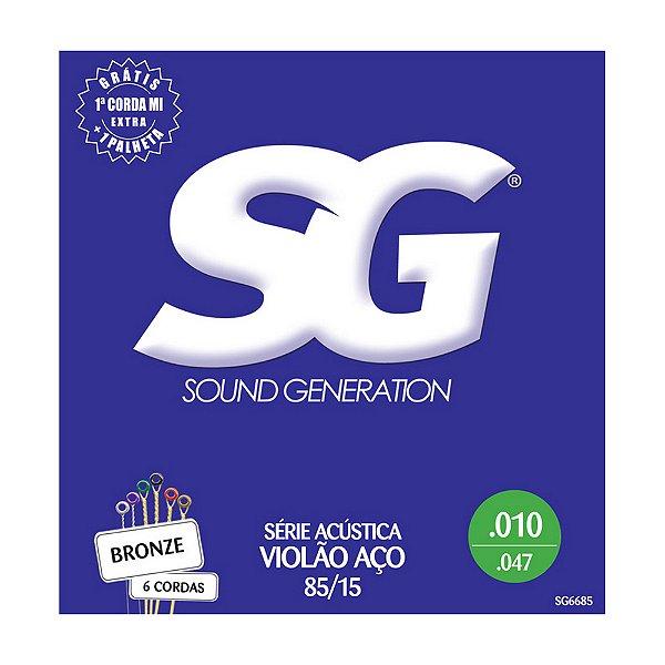 Encordoamento SG Violão Bronze 85/15 0.10 SG6685