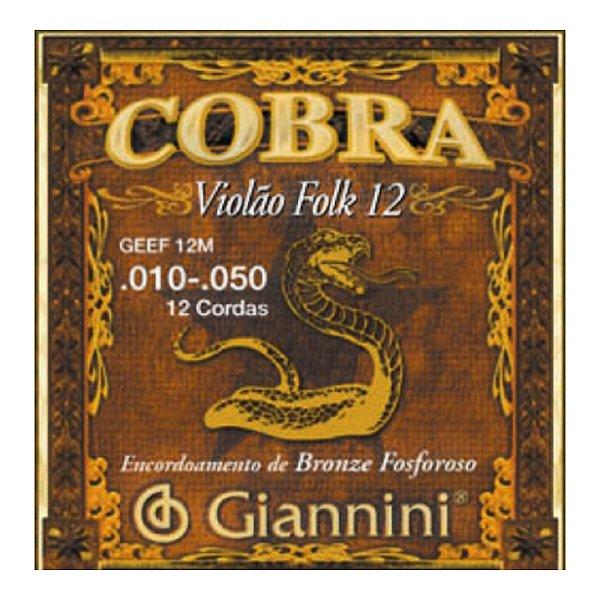 Encordoamento Giannini Violão Leve 12c Geef 12 E