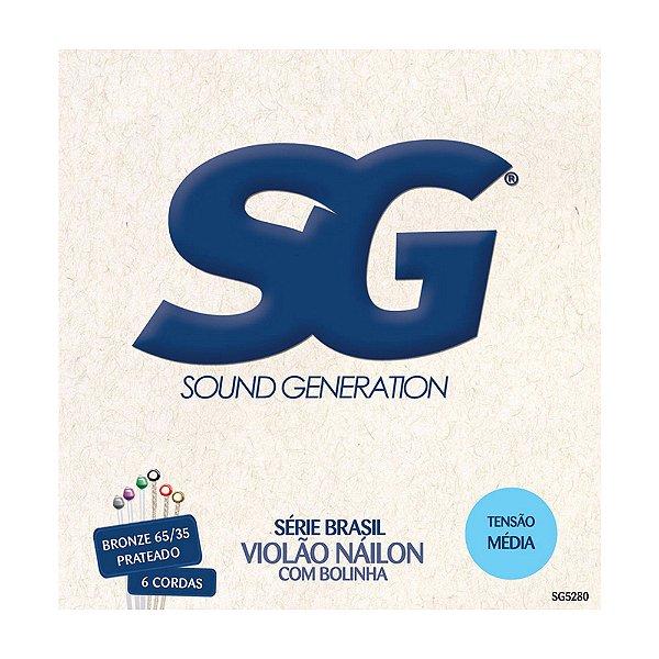 Encordoamento SG Violão Nylon Média SG5280