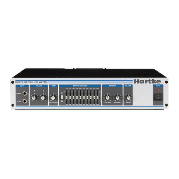 Cabecote Contrabaixo Hartke Systems Ha 2500